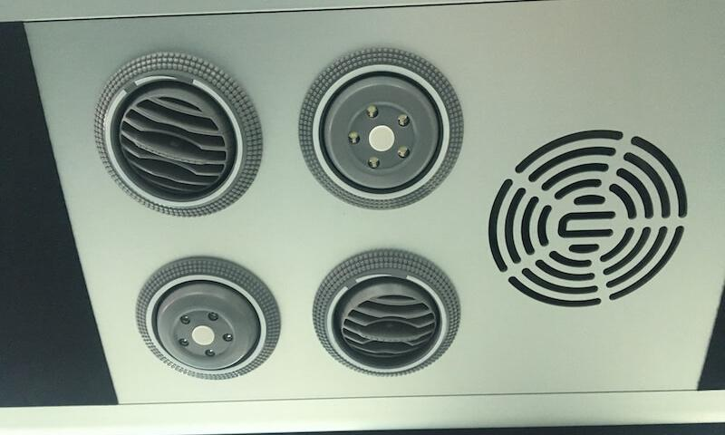 air conditioning unit in minibus