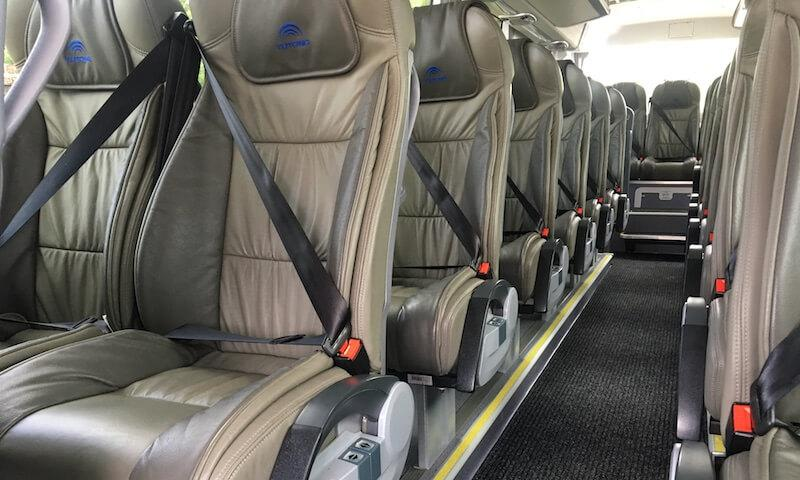 seatbelts in luxury coach