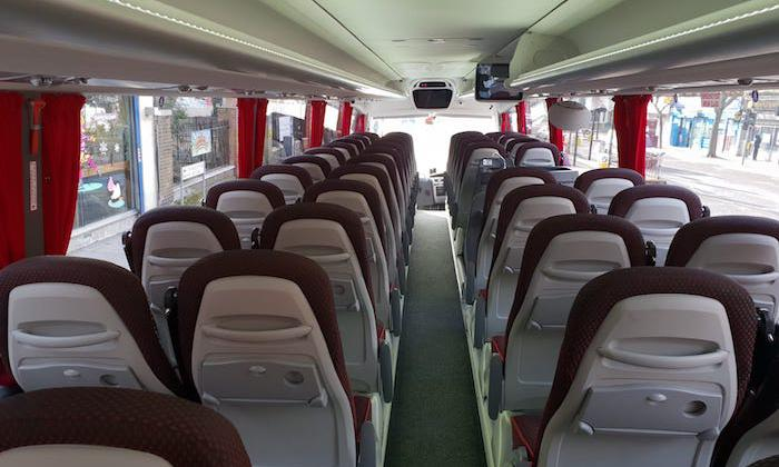 seating in luxury coach