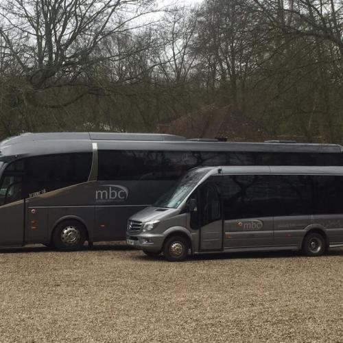 Executive luxury coach and minibus