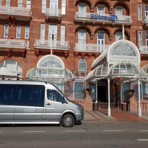 Minibus airport transfer to the Hilton Hotel